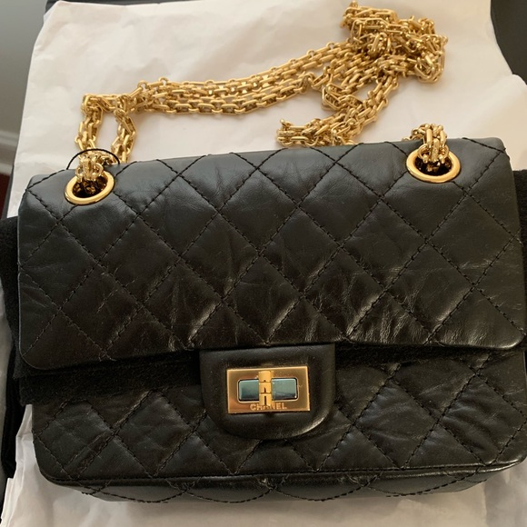 CHANEL Handbags - CHANEL Aged Calfskin Quilted 2.55 Reissue Mini F